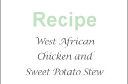 West African chicken, sweet potato and peanut stew