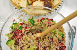 Quinoa salad with broccoli